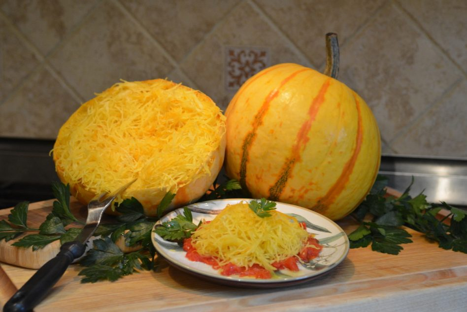 Millionaire (Hybrid) Pumpkin, Vegetable Spaghetti Squash